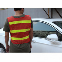 Wholesale yellow reflective vest - 2018 Vest Clothing Traffic Motorcycle Night Rider Red-Yellow Safety Security Visibility Reflective Cycling Outdoor Sports