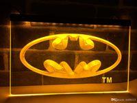 batman unterschrieben großhandel-LC001 - Batman Hero Man Cave LED Neonlicht-Zeichen