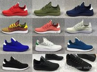 Wholesale mens golf shoes size 11 - 2018 fknit Mens Pharrell Williams Stan Smith Running Shoes Fashion Running Sneakers for Men White Green Blue Drop Shiping Size US5-US 11