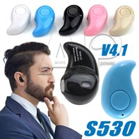 Wholesale Palms Small - S530 Wireless Stealth Bluetooth Mini Ultra-small Stereo Earbud Headset Handsfree Sport Earphones In-ear For Iphone X 8 7 Plus Samsung Note8