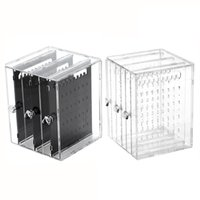 Wholesale acrylic clear makeup drawer organizer for sale - Group buy 3 Drawer Clear Acrylic Makeup Jewelry Organizer Holder Earrings Stud Holder Necklace Organizer Case Cabinet Earrings Stand Shelf