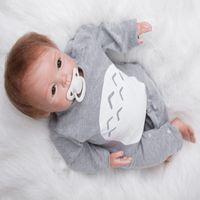 Wholesale Custom Children Vinyl - 22 Inch Vinyl Doll Cute Simulation Baby Reborn Doll Creative Gift Baby Model Manufacturers Custom Child