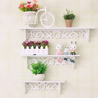 Wholesale bamboo wall rack for sale - Group buy Shoe Rack Pvc Wood Plastic Plate Simple Wall Stacks Flower Frame Clapboard Wall Hanging Shelf Rack Decor Storage Holder hx3 gg
