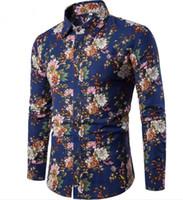 819fc2663bc3 Men s Shirts 14 Colors Mens Printed Casual Contrast Dress Shirt Button Down  Shirts Fashion Top Big Size XXXXXL H-06