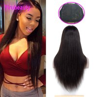 Wholesale front lace human hair closure resale online - Malaysian Virgin Hair Silky Straight X4 Lace Closure Wig Straight Human Hair Lace Wigs Natural Color By Lace Closure Wig inch