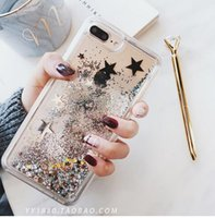 Wholesale flash for apple - 2018 New Flashing Gold Star Quicksand Apple X Mobile Shell Liquid Quick sand Soft-edge Silicone cover