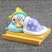 doraemon telefonlar toptan satış-Doraemon Sevimli Modelleri Mini Evrensel Cep Telefonu Standı Tutucu Smartphone Cep Telefonu Aksesuarları Braketi Samsung için