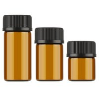 Wholesale Glass Reagent Bottles - 10pcs 1ml 2ml 3ml Mini Amber Glass Essential Oil Reagents Refillable Sample Bottle Brown Glass Vials With Cap