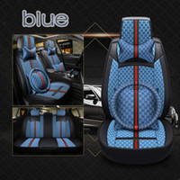 assento de carros de luxo venda por atacado-2018 arte de pano de linho todos os carros clusive acessórios interiores Acessórios Universal Car Seat Covers para a tampa do assento de carro Sedan de Luxo