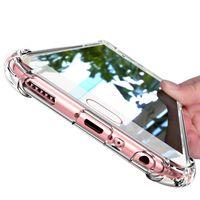 galaxy net cep telefonu davaları toptan satış-Süper Darbeye Temizle Temizle Yumuşak TPU Kılıfları Samsung galaxy S10 Artı S10e S8 S9 Artı Not 8 cep Telefonu Kapağı