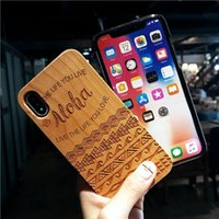 Wholesale wolf phone cases online – custom Tribal Wolf Skull Wood Phone Case for Samsung Galaxy S7 S7 Edge Dragon Flower Wooden Apple iphone S iphone X Cover