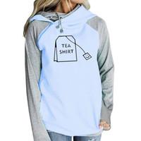 nueva camisa de té al por mayor-2018 Nueva Moda TEA SHIRT Imprimir Sudaderas Tops Femmes Hoodies Mujeres Juventud Harajuku Lindo Imprimir Hebilla Creativa