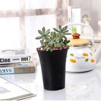 plantes vivantes du jardin achat en gros de-Nouveaux pots en plastique polonais mat pour les plantes boutures semis 10-Pack Durable Living Jardin Planteurs Livraison gratuite