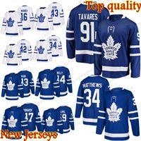 topo da folha de bordo venda por atacado-2019 Novo 91 John Tavares Toronto Maple Leafs Jersey 16 Mitch Marner 34 Auston Matthews Senhora Atacado de alta qualidade