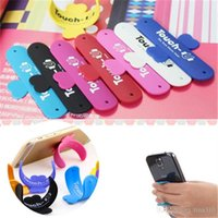 tragbare telefonhalterung großhandel-Universal-Portable Touch-U One Touch Silikon Ständer Halter Handy Halterungen Bunte Handy Stents T3I0046