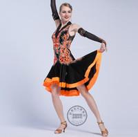 robes de danse latine pour les femmes achat en gros de-robe de concours de danse latine robe sexy Side - ouvert danse de salon latin robes Rumba Foxtrot pour les femmes 17196