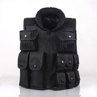 ingrosso giubbotti di caccia neri-CS GO Tactical Vest Army Outdoor Body Armor Swat combattimento Caccia Molle Vest nero per gli uomini