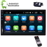 doble din pantalla táctil android al por mayor-Din doble en el tablero Android 6.0 Car Stereo Headunit Quad Core 2Din Pantalla capacitiva Muti-Touch Car Autoradio FM RDS Receptor de radio Auto