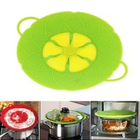 Wholesale Silicone Accessories For Kitchen - New Fashion Silicone Lid Spill Stopper Cover For Pot Pan Kitchen Accessories Cooking Tools Flower Cookware Kitchen Supplies