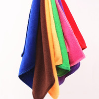 Wholesale Pva Fiber - Kitchen Cleaning 5 Pcs Microfiber Towel Low Cost Nano Microfiber Fast Dry Hair Bathroom New Colorful Random Color