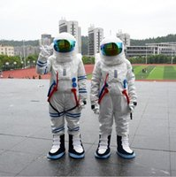 astronaut kostüme großhandel-Weltraumkostüm Maskottchen Kostüm Astronaut Maskottchen Kostüm mit Rucksack Handschuh, Schuhe