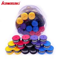 Wholesale tennis racquets over grips - 60Pcs lot Kawasaki X29 Sweatband Anti-slip Breathable Badminton Over Grip Tennis Overgrips Tape Racquet Accessories