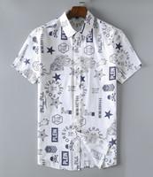 ropa de los hombres del partido al por mayor-Diseñador de la marca para hombre camisa de ajuste cómodo para hombre de manga corta de negocios camisas ocasionales hombres de lujo ropa de cena social JDPP00