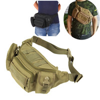 Wholesale tactical shoulder sling bags resale online - Tactical Portable Fanny Pack molle Waist Pack bag for Daily Life Camping Hiking Cycling chest sling shoulder bag