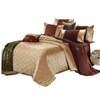 Wholesale Quality Silk Comforter Set - High Quality Luxury Jacquard Comforterble Bedlinen Duvet cover Set Silk and Cotton Bedding Sets Queen King Size