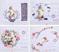 Wholesale blue color photography - Xmas 76*102CM newborn photography background props baby photo prop fleece floral deer printed backdrops infant swaddle blankets wraps soft