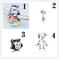 Wholesale movie robot for sale - Group buy 2018 latest little bear small Bella robot little girl crown kitten multi style DIY bracelet accessories factory