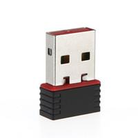 внутренние карточки wifi оптовых-Ralink RT5370 USB Wifi адаптер 150 Мбит / с USB LAN Ethernet сетевой карты адаптер внутренняя антенна для SKYBOX / Openbox