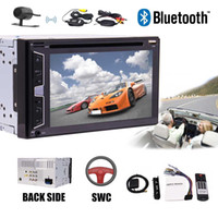 Wholesale automotive screen - In Deck Double Din 6.2'' Car Stereo Bluetooth USB SD Radio Audio Car DVD Player 2Din Headunit Automotive System Subwoofer Video out
