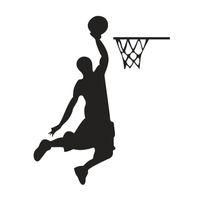 vinil de basquete venda por atacado-1 pcs Jogador De Basquete Dos Desenhos Animados Interruptor de Vinil Adesivo Decor Lightswitch Decor Decalques de Parede