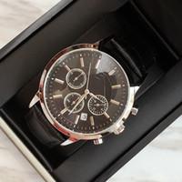 ver hots al por mayor-TOP moda de acero inoxidable reloj de cuero de cuarzo hombre movimiento reloj de Japón oro rosa relojes de pulsera vida a prueba de agua reloj masculino artículos calientes