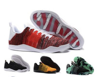 chaussures kb orange achat en gros de-Nike Kobe 11 Elite Low Hommes KB Kobe Bryant Ad 11 X1 Chaussures de basket 11 XI Elite Noir Or Gris Jaune Kobes Sports Sneakers Tissage KB 11 11s Bottes Taille 7-12