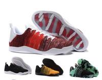 c0e673370e112 Nike Kobe 11 Elite Low Uomo KB Kobe Bryant Ad 11 X1 Scarpe da basket 11 XI  Elite Nero Oro Grigio Giallo Kobes Sneakers sportive tessitura KB 11 11s  Stivali ...