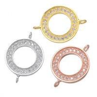Wholesale coppers earring findings online - 2018 New Loop Round Connectors Handmade Jewelry Crystal Rhinestones Circle Karma Infinity Connectors DIY Bracelet Earrings Finding