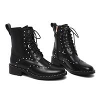 avrupa'da çizmeler toptan satış-JIEW Europ luxusy Hakiki Deri BOOT Yüksek Top Martin Boot Ayakkabı Tasarımcısı Ayakkabı Eğitmenler Rahat Ayakkabı boyutu 35-41 kutu ile gerçek lesther