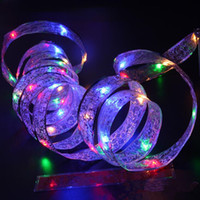 navidad lámpara batería cálido blanco al por mayor-4M 40LED luz de Navidad LED de vacaciones con pilas de la cinta Led luces de la secuencia RGB blanco cálido para la decoración del regalo del partido del jardín del hogar