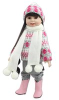Wholesale classic toddler toys online - 18 quot Reborn Baby Doll Lifelike cm Girl Vinyl Baby Toy Cute Reborn Bebe Toddler GIFT