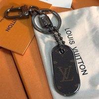 ingrosso tag universali-Portachiavi di lusso di alta qualità M63618 serratura in pelle auto portachiavi borsa in acciaio inox decorazione regali tag con scatola