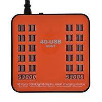 ingrosso dispositivi portatili-Stazione di ricarica 40 porte Caricabatterie USB 5V 180W con display a LED Universale Per dispositivi mobili iPad 7 iPhone 6 8s Plus