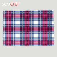 Wholesale king pink blanket - Custom Soft Fleece Throw Blanket Abstract Plaid Pattern Trendy Stylized with Vintage Scottish Effects Artsy Illustration Pink