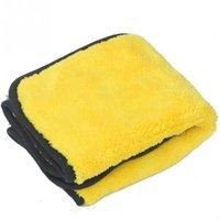 ingrosso la cura dell'automobile super pulita-Colore casuale Car Care Cera lucidatura Detailing Asciugamani auto lavaggio tovagliolo di secchezza Super Thick peluche in microfibra auto panno di pulizia