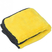 Wholesale car wash waxing online - Random Color Car Care Wax Polishing Detailing Towels Car Washing Drying Towel Super Thick Plush Microfiber Car Cleaning Cloth