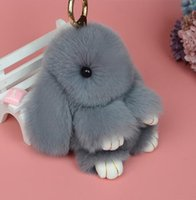 Wholesale Photo Rabbits - low price keychain cute rabbit pendant for bag keys car bag accessories made in China