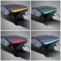 Wholesale cycling bike light set online - Usb Bicycle Led Headlights Multi Function Charge Cycling Lamp Water Proof With Bell Bike Parts Glowing In The Dark bf jj
