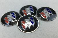 ingrosso copertura dell'automobile di buick-56.5mm 65mm Buick logo Car Wheel Centro coprimozzo adesivo in lega di alluminio distintivo emblema copre decal styling PER LaCrosse Regal Verano