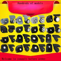 par de ruedas al por mayor-GUGULUZA 1 par de equipaje de reemplazo Maleta Ruedas 360 Rueda giratoria Rueda universal Para la mayoría de los bolsos